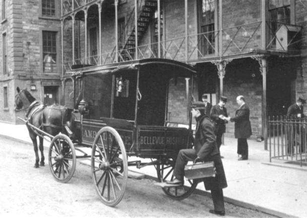 First Ambulance, Bellevue Hosp 1869