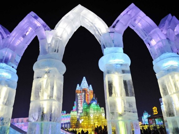 China - Giant Ice Sculpture Night1