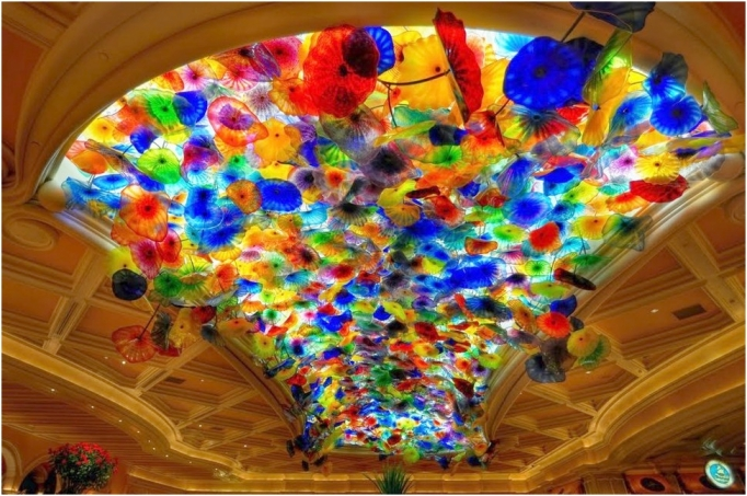 Glass ceiling, Bellagio Hotel