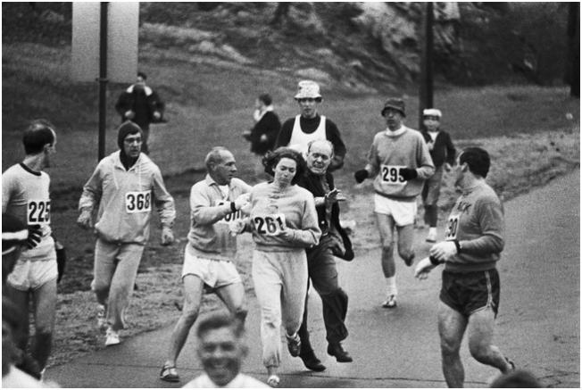 First woman, Boston Marathon