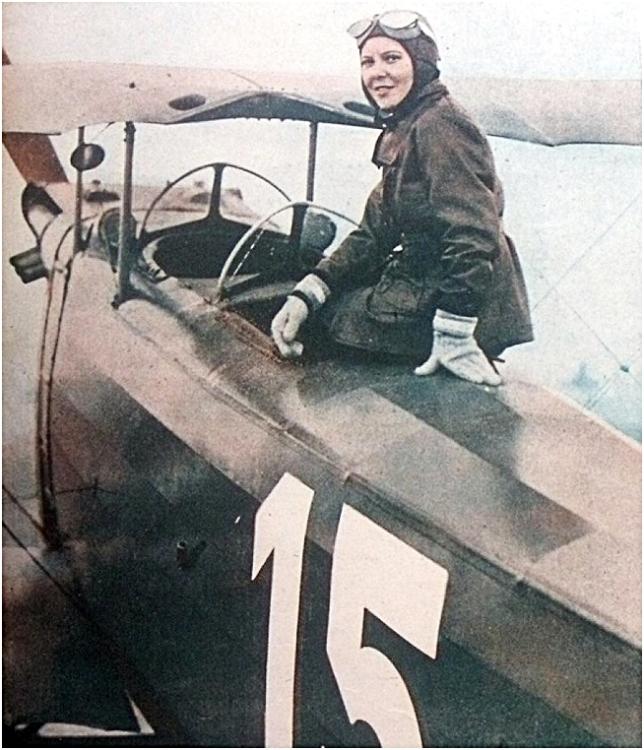 Sabiha Gökçen, Turkey, first female fighter pilot