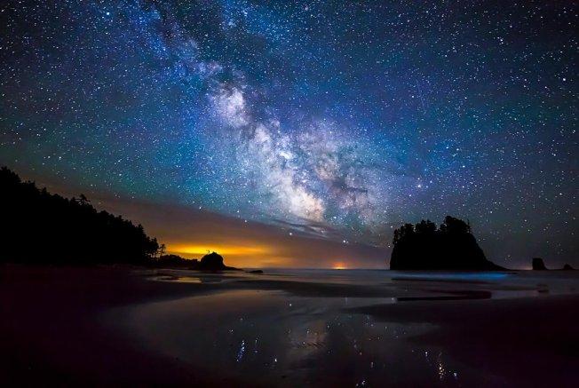 Milky Way Over Second Beach