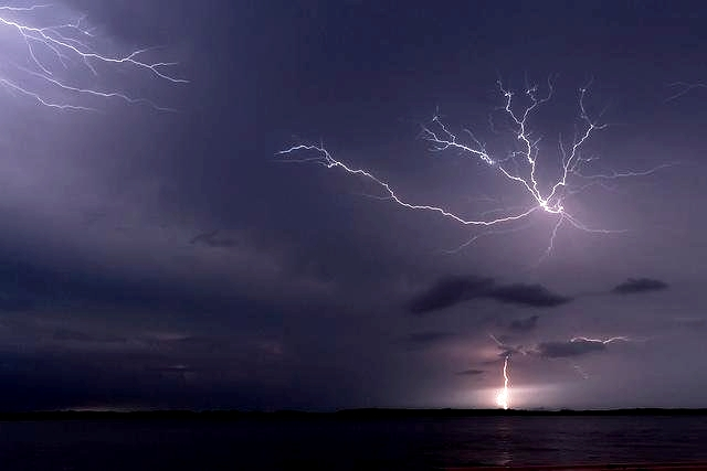 Lightning, Lake Maracaimbo, Smithsonian