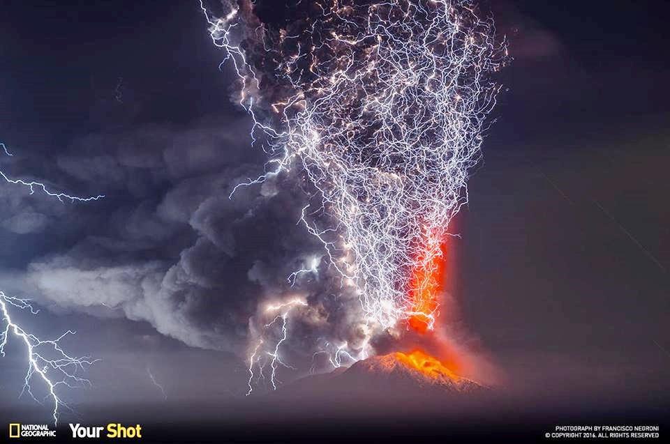 A Volcano Lightning Storm   San Diego with RealtorPeg