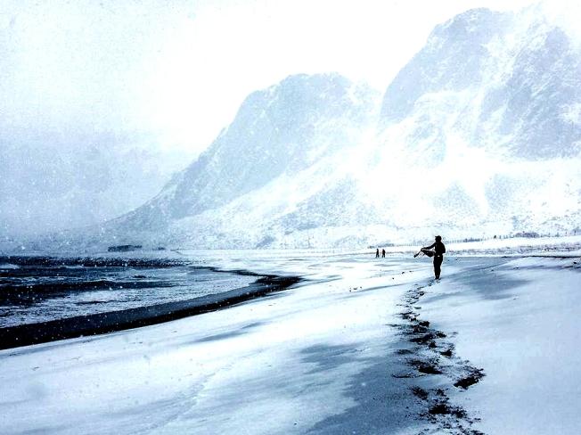 Surfer, Arctic, Norway, NatGeo