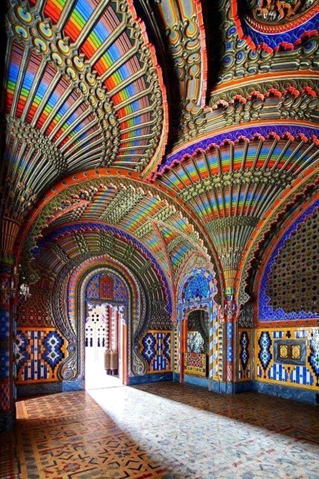 Peacock Room Castello di Sammezzano, Italy, FascinatingPlacesInTheWorld, FB